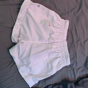 White lululemon shorts !